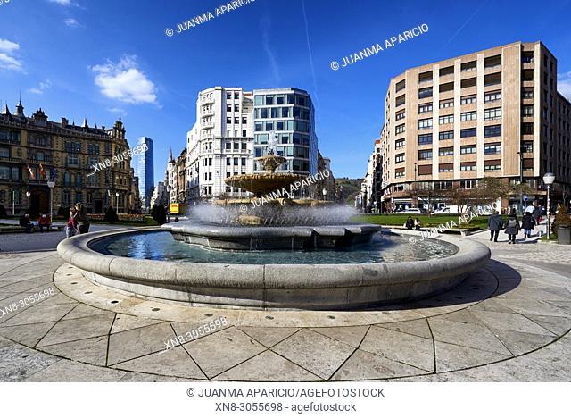 Plaza Federico Moyua, Bilbao, Biscay, Basque Country, Euskadi, Euskal Herria, Spain