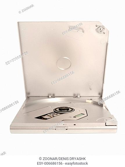 Portable external slim CD DVD drive isolated