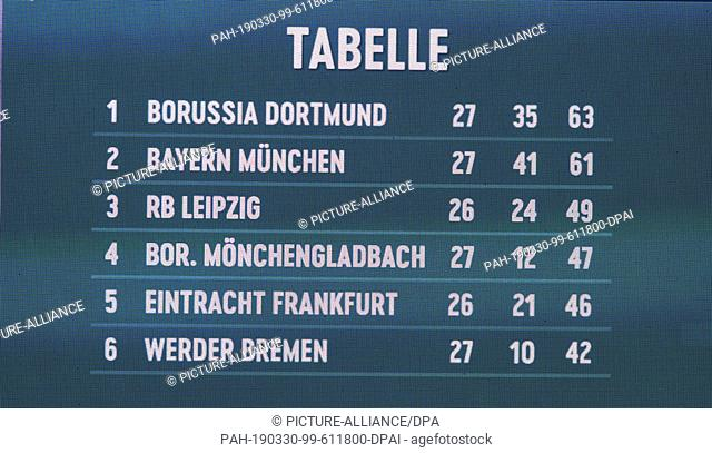 German bundesliga table Stock Photos and Images | age fotostock