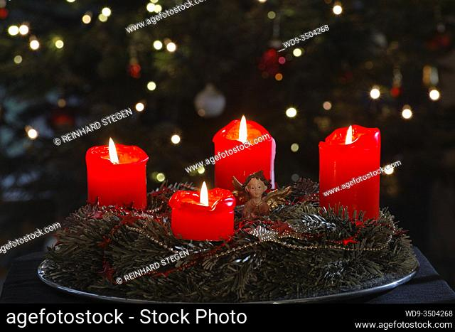 advent wreath, german, european pre-Christmas tradition