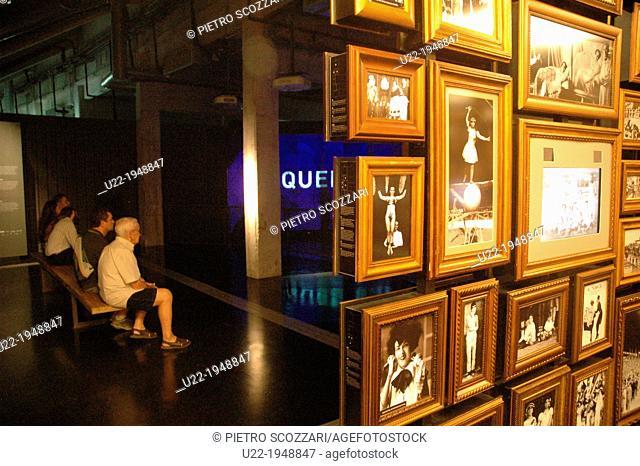 Sao Paulo, Brazil, South America, Latin America, Pacaembu, museum, futebol, sport, soccer, stadium, indoor, travel, tourism, color image, horizontal
