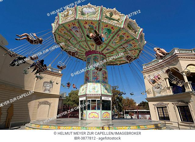 Chairoplane or swing caroussel, Prater, Vienna, Austria
