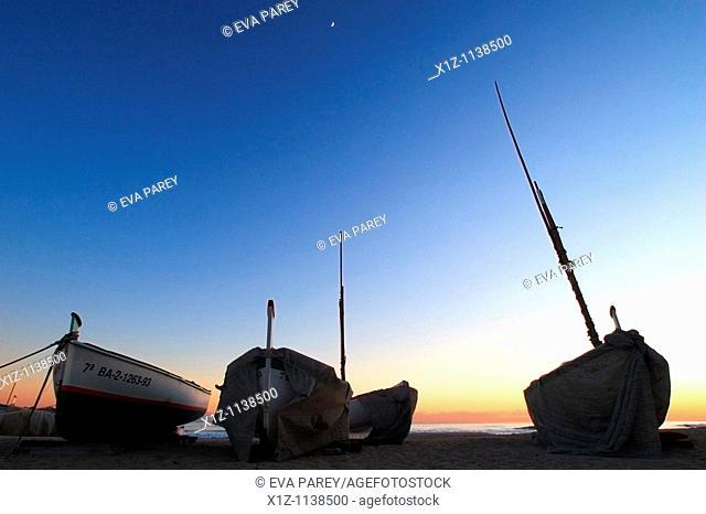 Boats in the fishermen pier of Vilassar de Mar a village in Maresme Barcelona, Spain