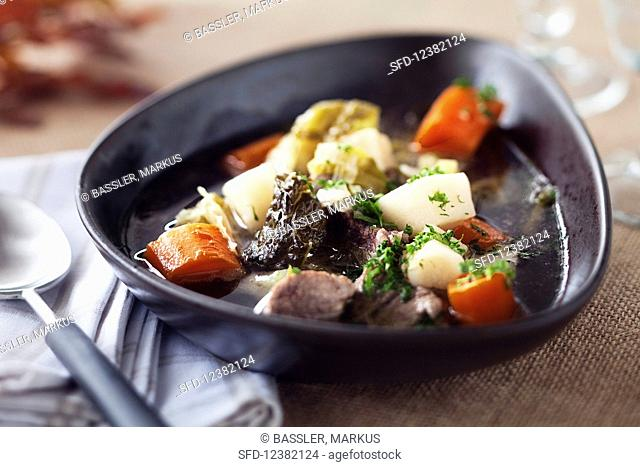 Bavarian meat stew with beef