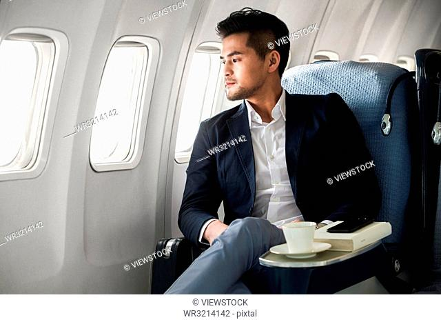 Business man to travel by plane