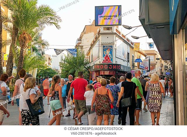 -Touristic Streets in Benidorm- Alicante Spain