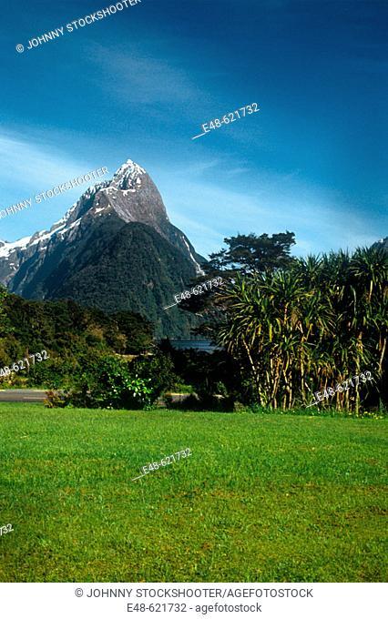 Mitre Peak, Milford Sound. New Zealand