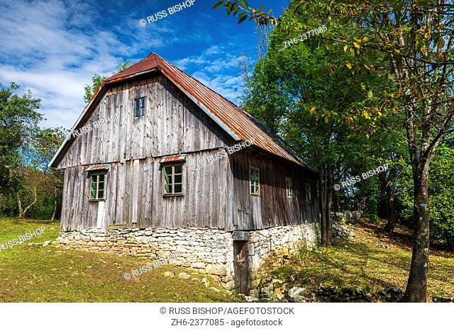 Historic ranch house in Plitvice Lakes National Park, Croatia