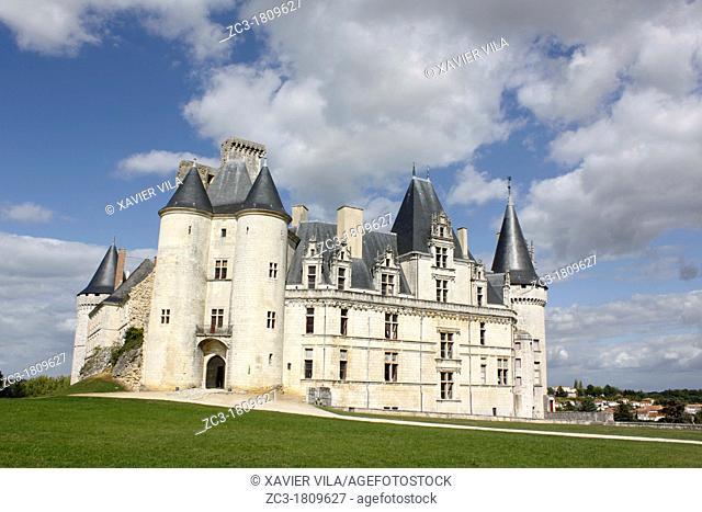 Castel of La Rochefoucauld, Charente, Poitou-Charentes, France
