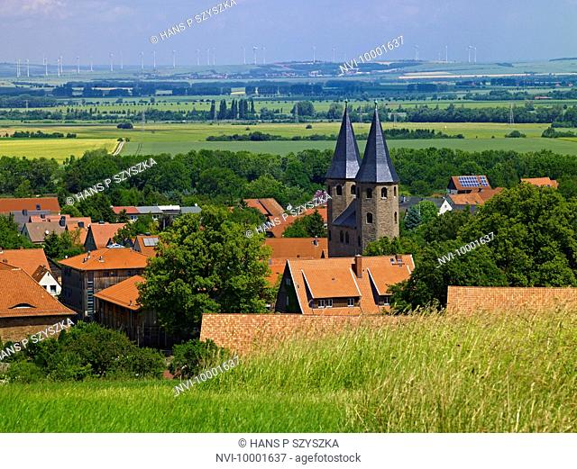 Druebeck Abbey with abbey church, Druebeck, Saxony-Anhalt Germany