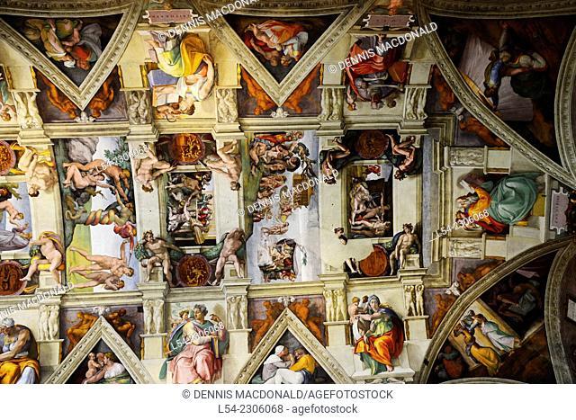 Sistine Chapel Michelangelo Vatican Museum Rome Italy IT EU Europe