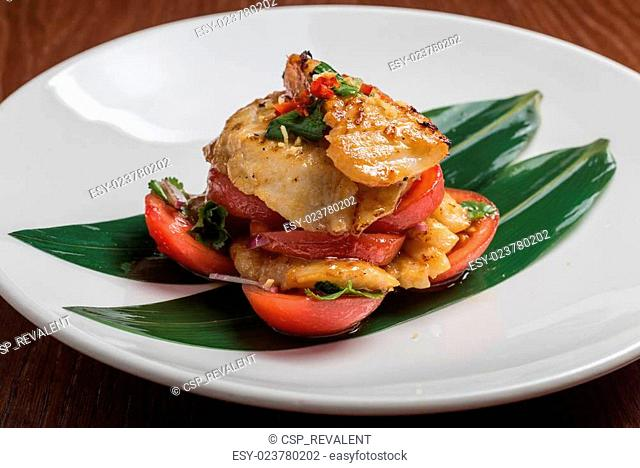 codfish with tomatoes