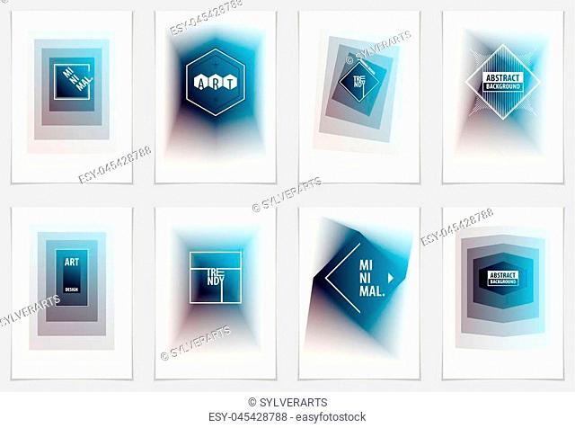 Future geometric design templates. Abstract geometric vector patterns set. Layouts for Covers, Placards, Posters, Flyers and Banner Designs