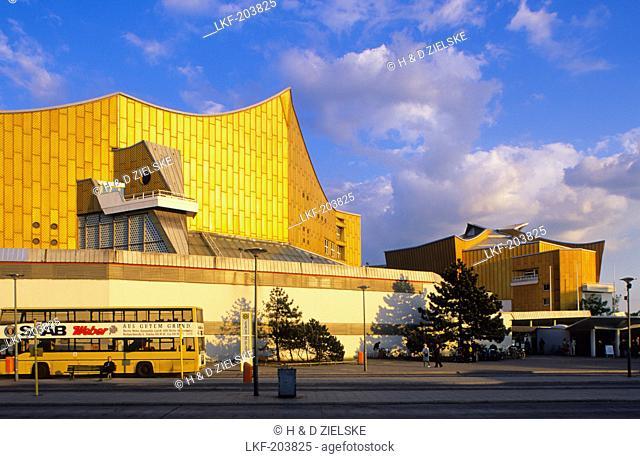 Europe, Germany, Berlin, view of the Berliner Philharmonie