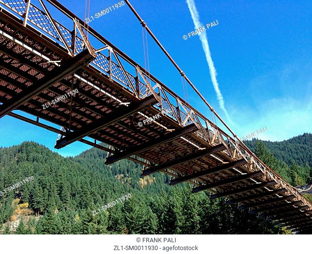 This, the second of three Alexandra Bridges north of Hope, BC, Canada, was opened in 1926. It is part of a special heritage park