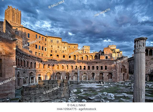 Antiquity, Augustus, forum, capital, Italy, Europe, market, Rome, Trajan, Roman