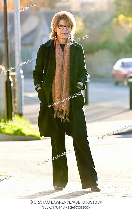 Hay-on-Wye, Wales, UK. 30th November 2013. Vicky Price, ex-wife of politician Chris Huhne and author of Prisontronics, arrives at the Swan Hotel looking...