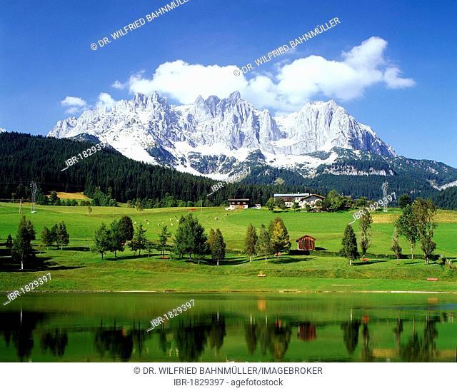 Wilder Kaiser Mountain, Kaiser Range, Tyrol, Austria, Europe