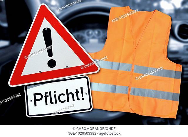 Safety vest and information sign