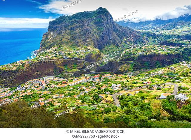 Penha d'Aguia (Eagle's crag), Faial (Santana). Madeira, Portugal, Europe