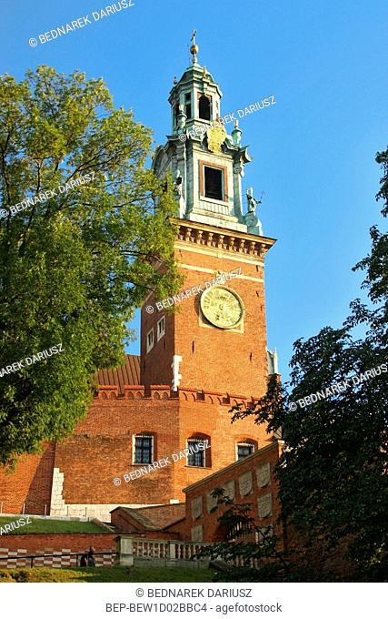 The Sigismund Tower. Wawel Castle. Cracow, Lesser Poland Voivodeship, Poland