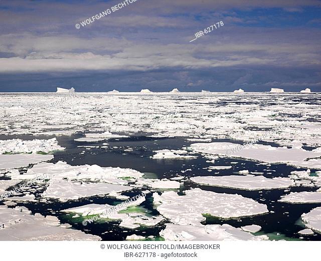 Icebergs near Franklin Island, Antarctica