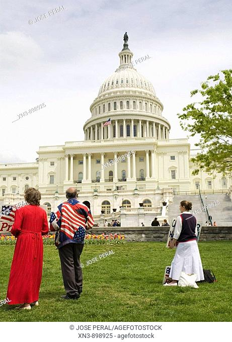Anti-abortion protest in front of Capitol Building,  Washington D.C., USA