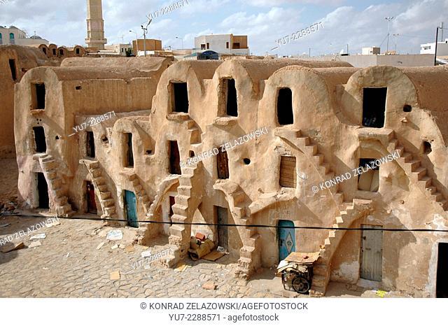 Ghorfas in Medenine, Tunisia