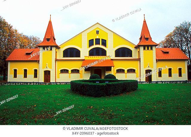 The building of National Stud Farm in Topolcianky, Slovakia