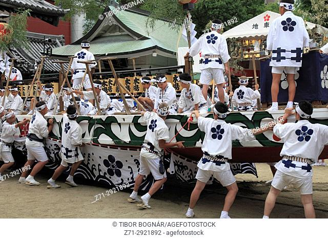 Japan, Osaka, Tenjin Matsuri, festival, people,