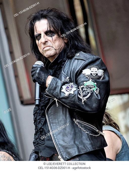 Alice Cooper on stage for Fox & Friends All American Summer Concert Series with Alice Cooper, Outside FOX Studios in Manhattan, New York, NY August 14, 2015