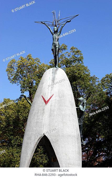 Children's Peace Monument, Hiroshima Peace Memorial Park, Hiroshima, Western Honshu, Japan, Asia