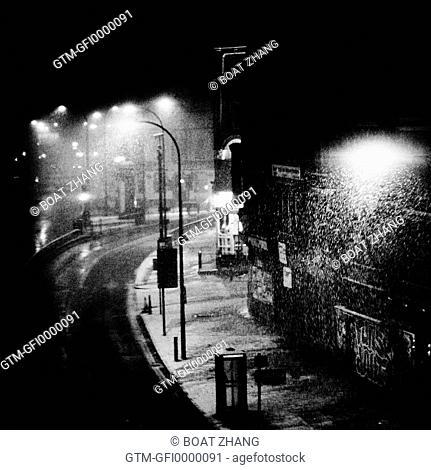 Dark Snowy Street