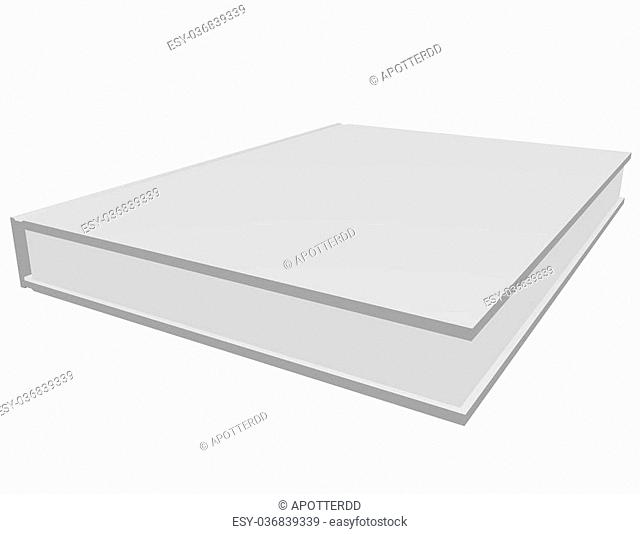 3d Render of a White Book