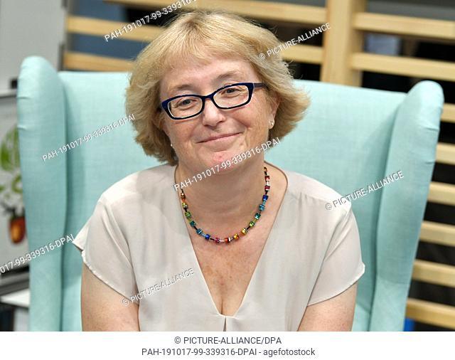 17 October 2019, Hessen, Frankfurt/Main: The author Heike Wanner at the Frankfurt Book Fair. Photo: Jens Kalaene/dpa-Zentralbild/ZB