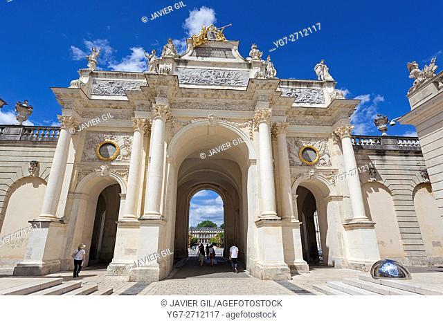 Arc de Triomphe. Triumphal arch built in 1756, Nancy, Meurthe-et-Moselle, Alsace-Champagne-Ardenne-Lorraine, France