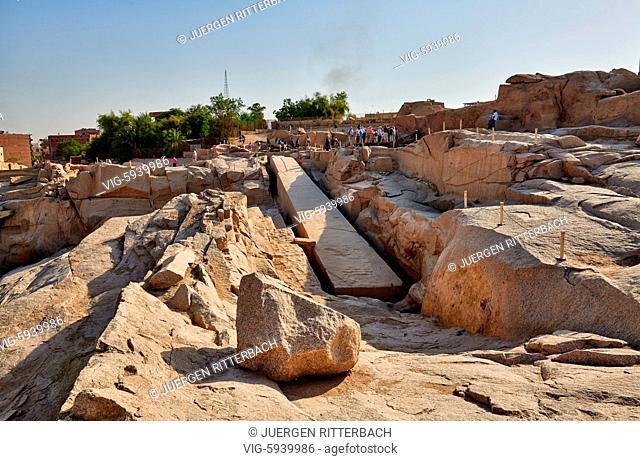 EGYPT, ASWAN, 10.11.2016, Unfinished obelisk, Aswan , Egypt, Africa - Aswan, Egypt, 10/11/2016