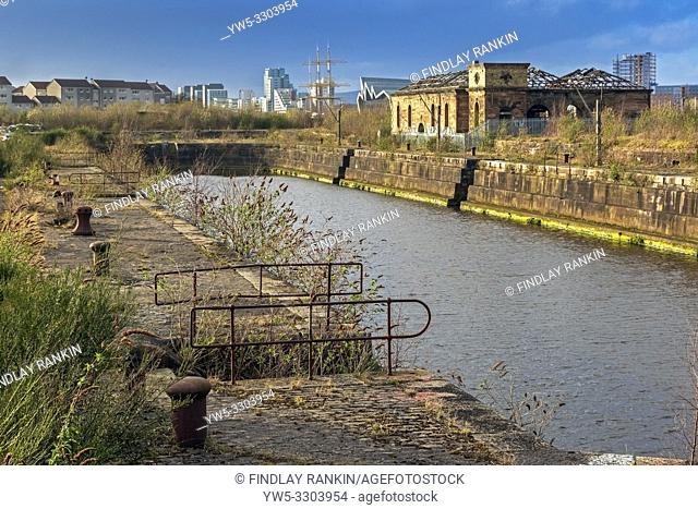 Graving docks, Govan, River Clyde, Glasgow< Scotland, UK
