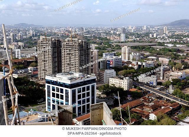 Skyline from Marathon building, Lower Parel, Mumbai, Maharashtra, India, Asia