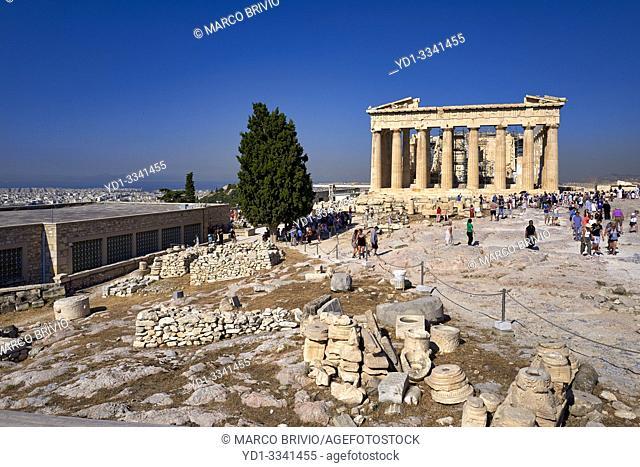 Athens Greece. The Parthenon at the Acropolis