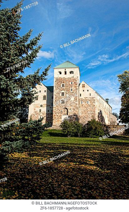 Turku Finland old ancient Turun Linna Castle 12th Century stone landmark