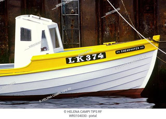 UK , Scotland, Shetland Islands, fishing boat