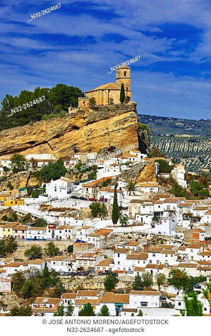 Montefrio. Moorish castle, Washington Irving Route, Granada province, Andalusia, Spain