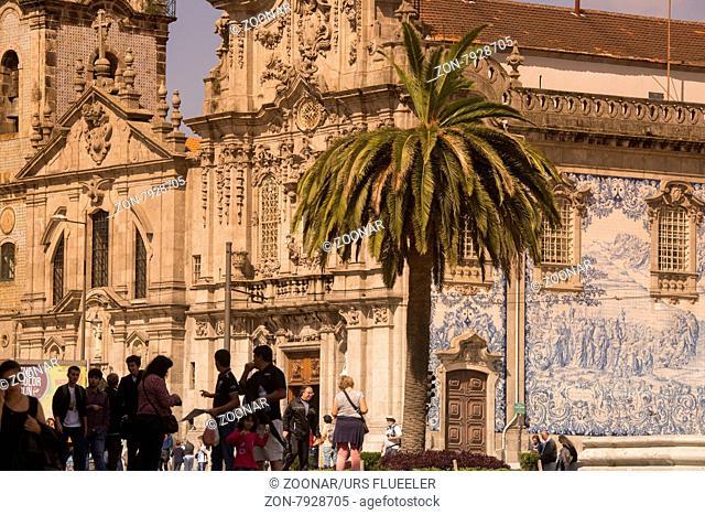 the church Igreja do carmo d dos carmelitas in the old town of ribeira in the city centre of Porto in Porugal in Europe