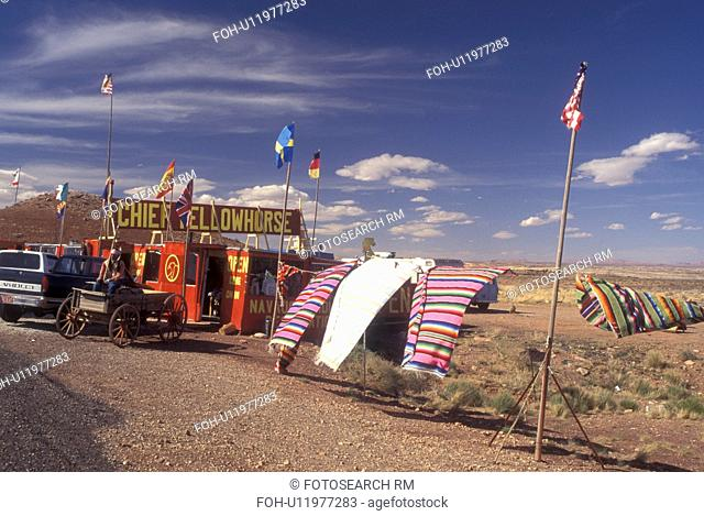 AZ, Arizona, Native Americans display their crafts near Grand Canyon National Park