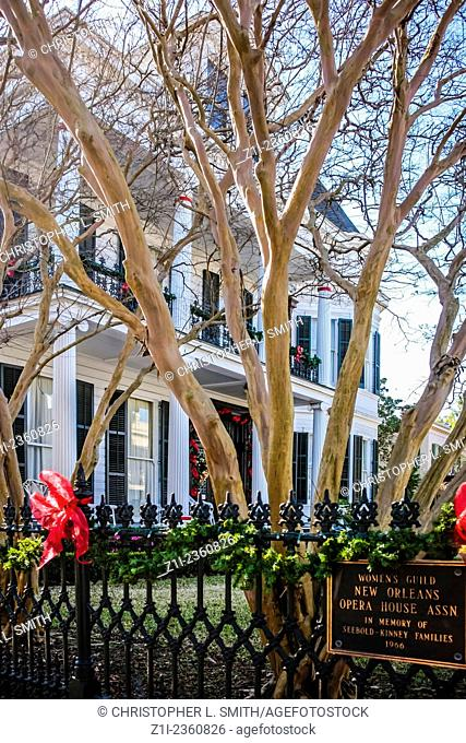 The Gilmour-Parker House in the Garden District of New Orleans LA