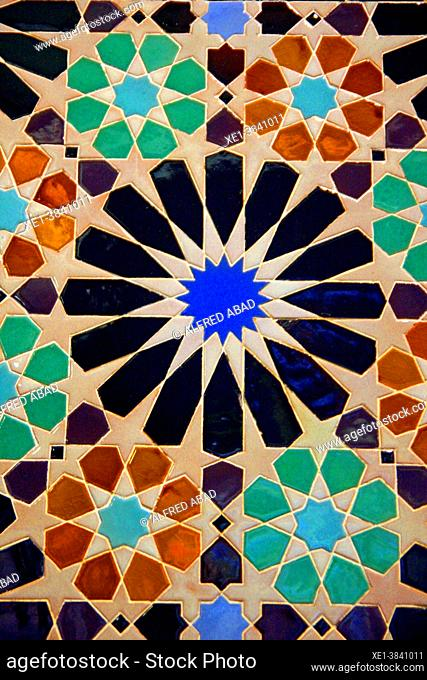 decorative ceramic panel, exhibition Timeless Architecture, CentroCentro cultural center, Palacio de Cibeles, Madrid, Spain