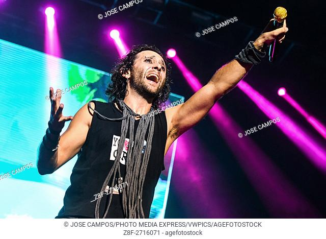 Rock band Gandhi, from Costa Rica, during their show at Coca Cola Fest concert. Estadio Nacional, San José, Costa Rica. August 27th, 2016