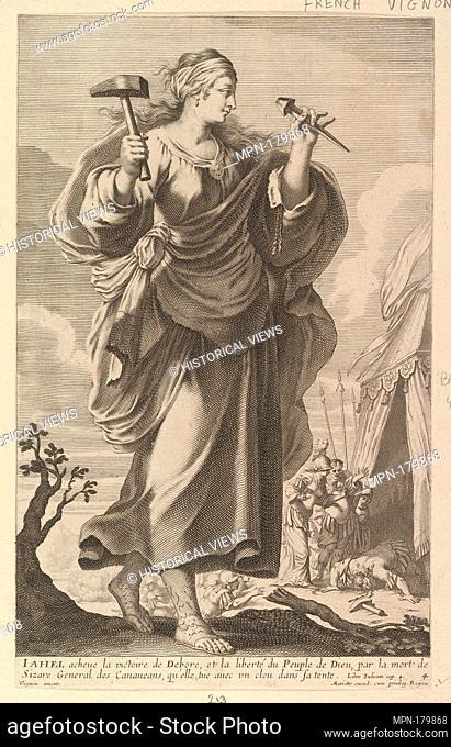 Jahel. Series/Portfolio: Galerie des Femmes fortes; Artist: Gilles Rousselet (French, Paris 1614-1686 Paris); Artist: Abraham Bosse (French