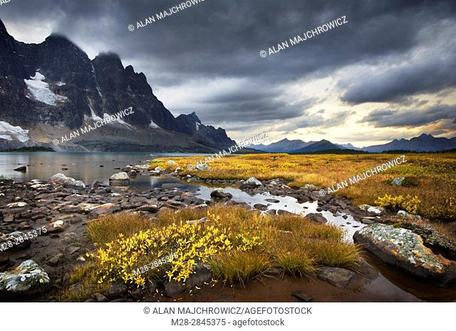 Approaching storm, the Ramparts, Tonquin Valley, Jasper National Park Alberta